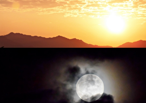 o sol e a lua