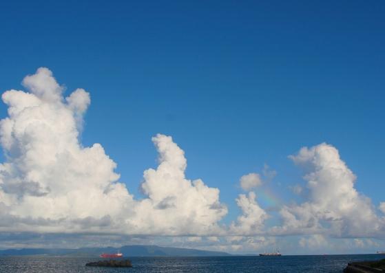 Nuvens no céu. um mar de possibilidades