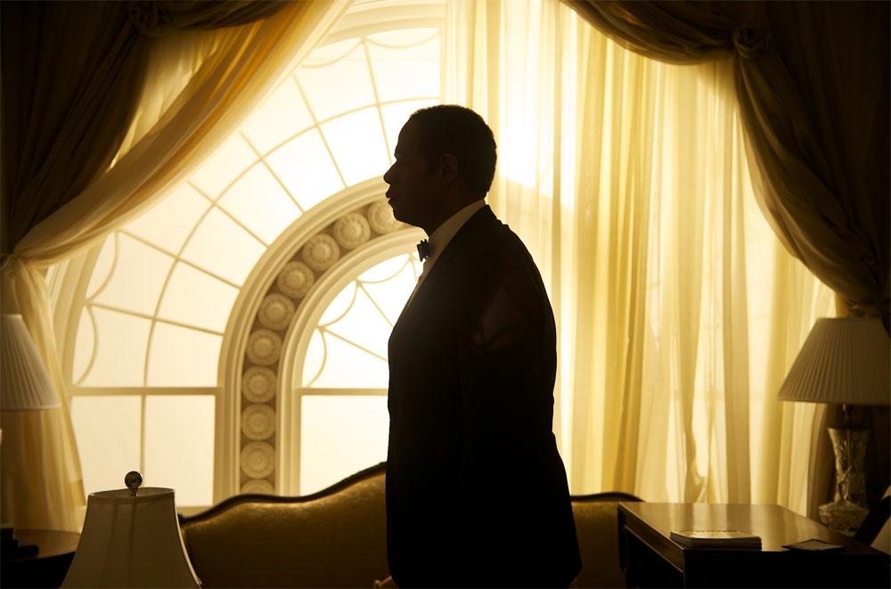 Cena do filme com a silhueta do O Mordomo da Casa Branca