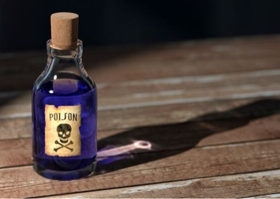 garrafa de veneno