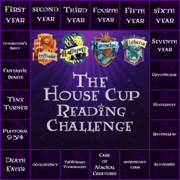 house cup reading challenge board