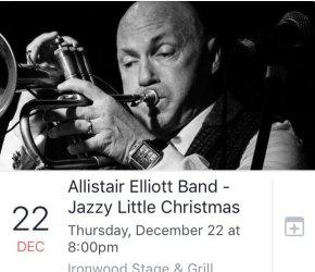 Jazzy Little Christmas - Allistair Elliott Band Live