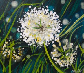 White Wildgrass Flowers