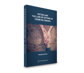 Victim Law: The Law of Victims of Crime in Canada - Book Talk (Victoria)