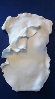 Dress White Paper Clay Sculpture