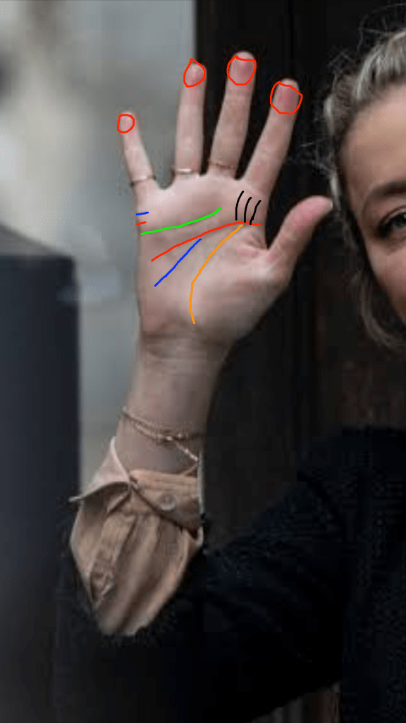 Amber Heard Palm Reading - Lines and Signs