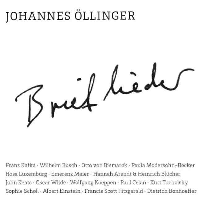 [CD Kritik] Brieflieder – Johannes Öllinger
