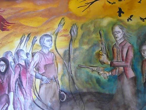 """Патриция рисува по поемата """"Септември"""" на Гео Милев"""
