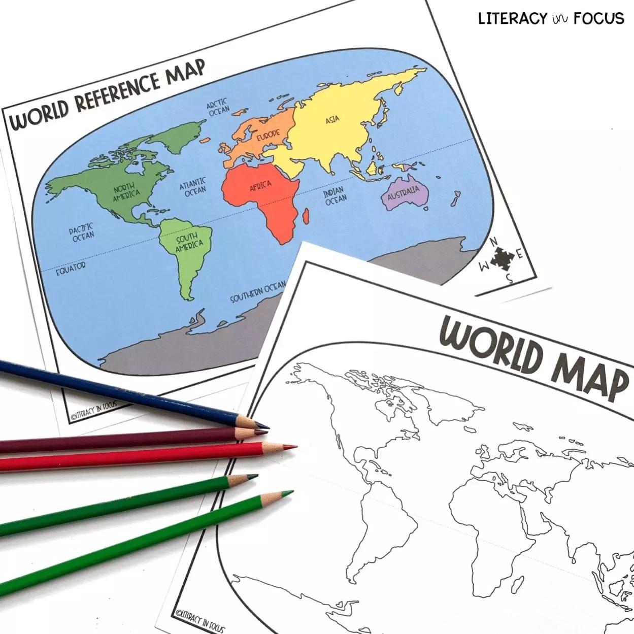 Printable World Map Worksheet And Quiz