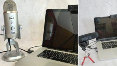 Yeti-laptop-webcam and rode-laptop-webcam