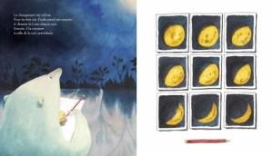 émile peint la lune qui rétrécit
