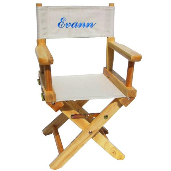 fauteuil metteur en scene bois naturel personnalise