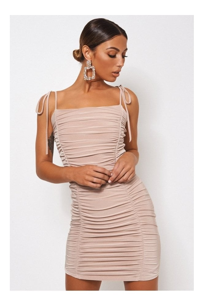 The Fashion Bible Champagne Ruched Bodycon Dress 10