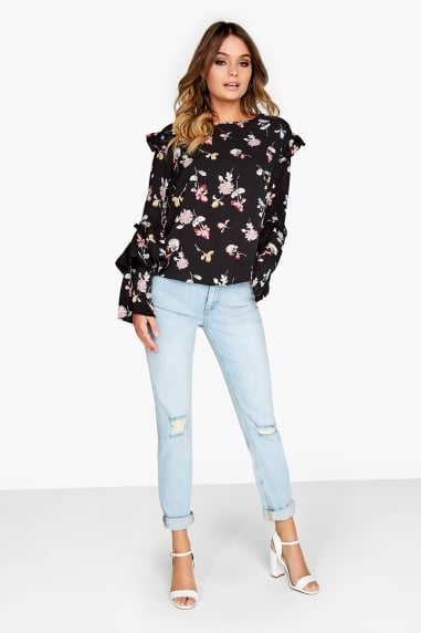 Floral Frill Top