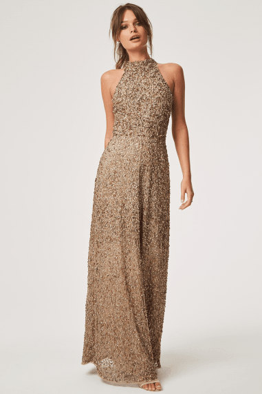 Luxury Nicky Hand Embellished Sequin Maxi Dress