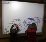 PRESCHOOL - Mark making on our whiteboard