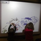 Pioneers - Mark making on our whiteboard
