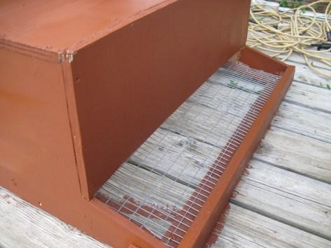 Back of nest box