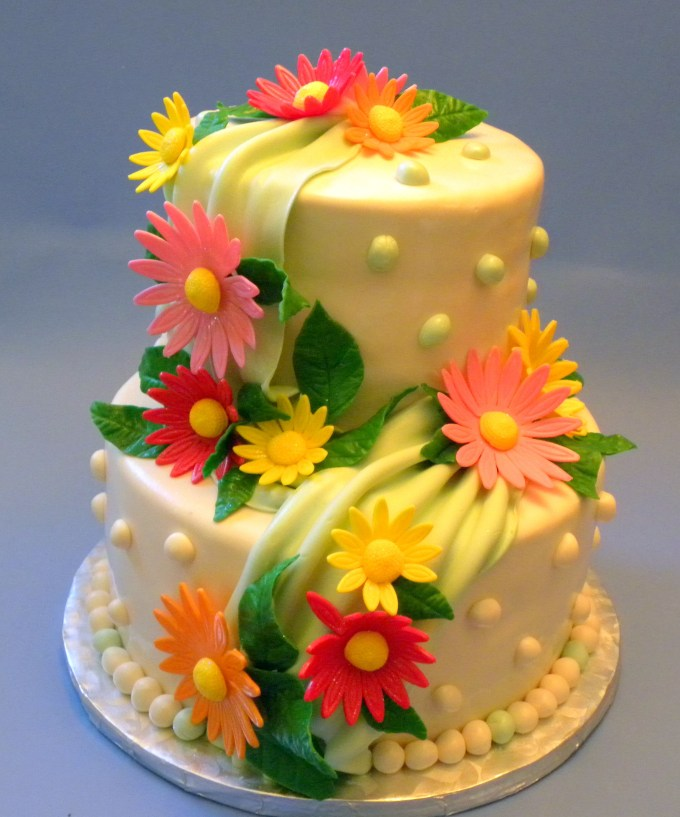 Images Of Happy Birthday Cakes With Flowers Siewalls