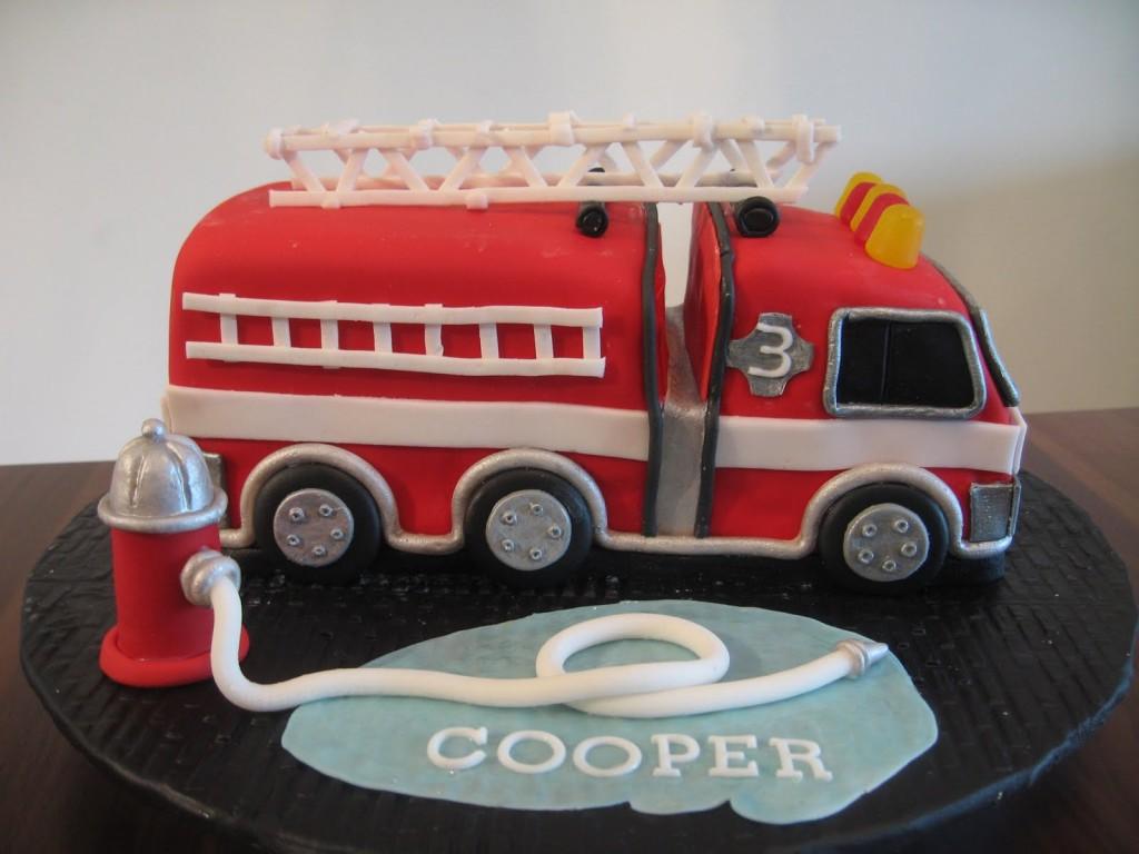 Fire Truck Cakes Decoration Ideas Little Birthday Cakes