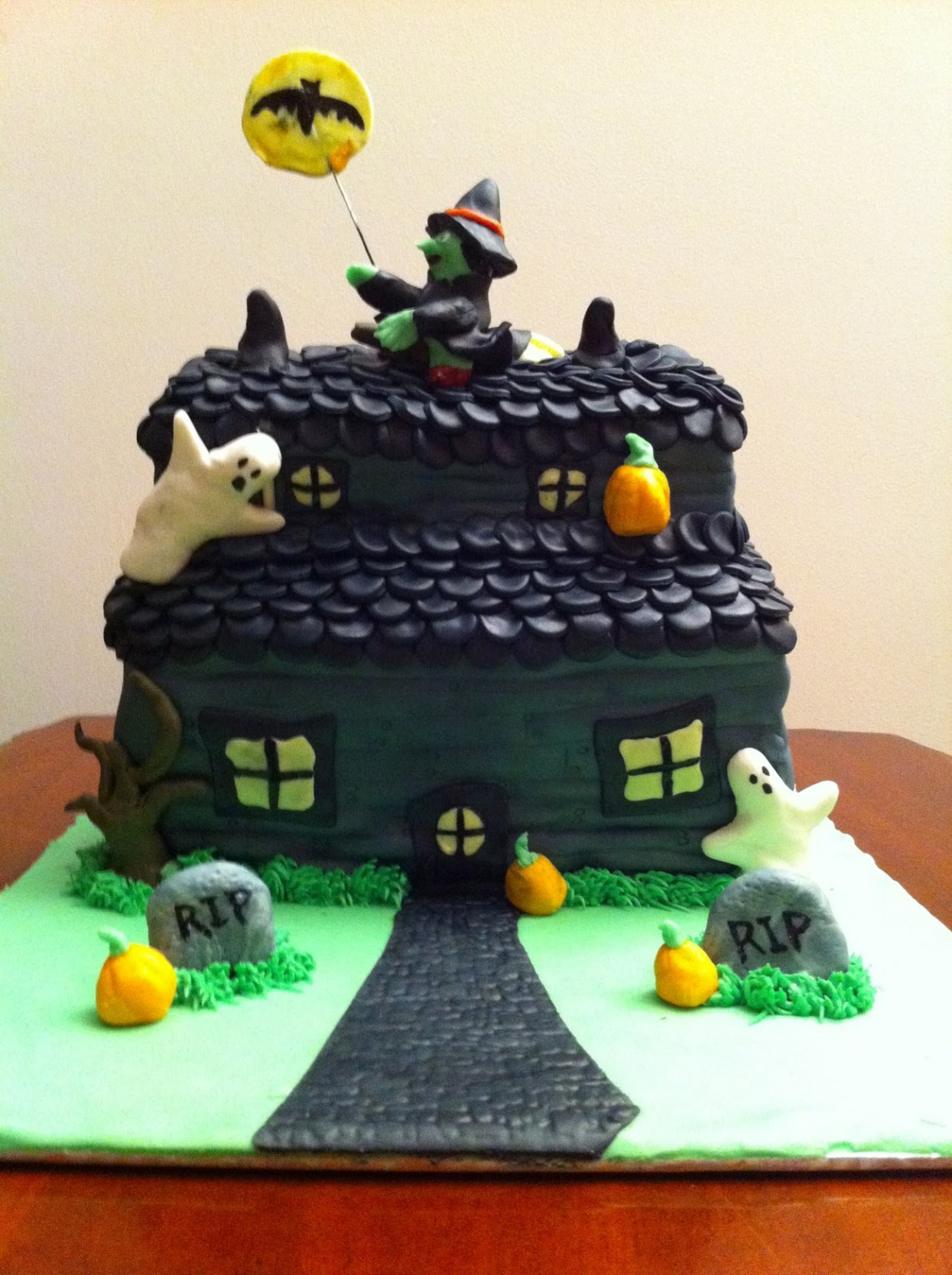 Magnificent Haunted House Cake Recipe The Cake Boutique Funny Birthday Cards Online Inifofree Goldxyz