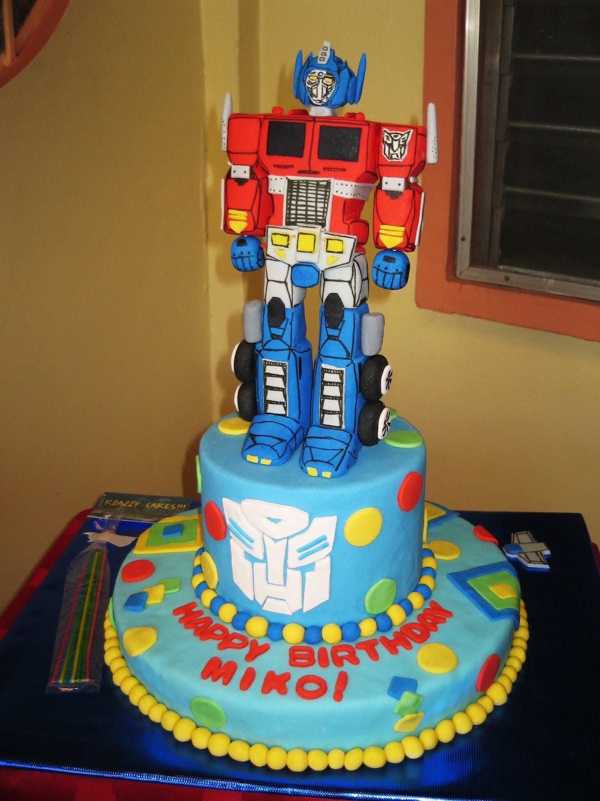 Optimus Prime Cakes Decoration Ideas