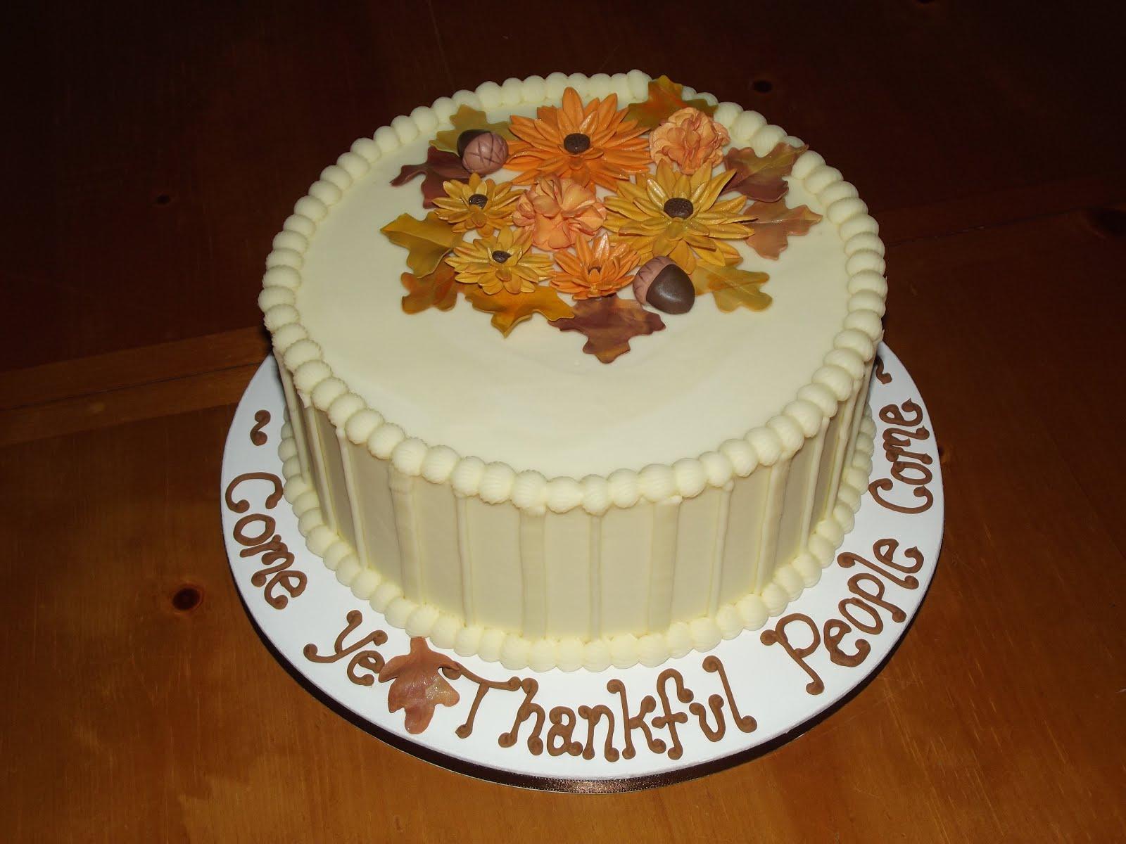 Thanksgiving Cakes Decoration Ideas