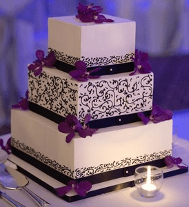 Purple wedding cakes     Decoration ideas   Little Birthday Cakes black and purple wedding cakes