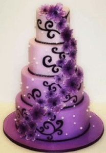 Purple wedding cakes     Decoration ideas   Little Birthday Cakes purple wedding cakes ideas