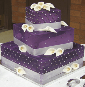 Purple wedding cakes     Decoration ideas   Little Birthday Cakes purple wedding cakes tower