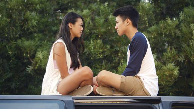 Victoria Park and Brandon Soo Hoo in a scene from Everything Before Us by Wong Fu Productions