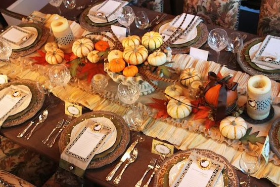 Thanksgiving Table Set Up Ideas Little Us