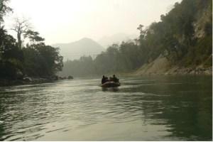 Boating in Manas River