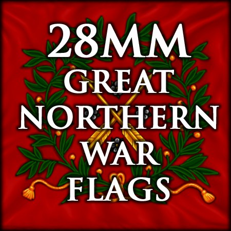 28mm Gt. Northern War flags