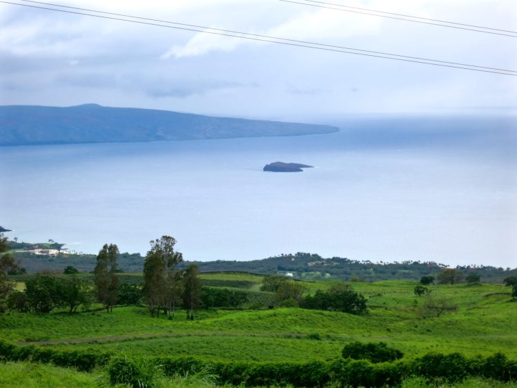 MolokinThis is a view from upcountry. Molokini Crater can be seen In the distancei Crater Can Be Seen In The Distance