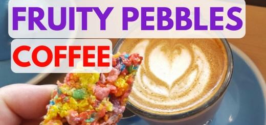 Fruity Pebbles Coffee Cortadoin Austin Texas at Fleet Coffee