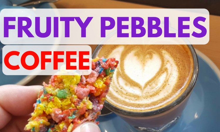 Fruity Pebbles Coffee Cortadoin Austin Texas at Fleet Coffee