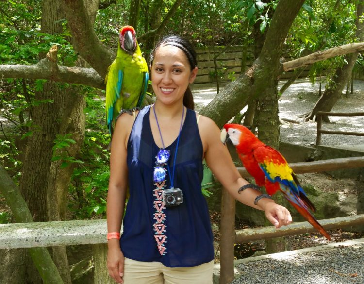 Take pictures with parrots in Roatan Honduras - Gumbalimba Park