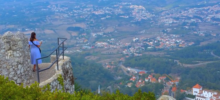 Amazing views from the Moors Castle in Sintra