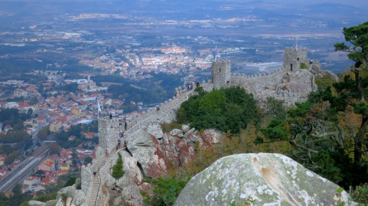 The Moors Castle in Sintra Portugal blew me away with the amazing views!