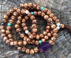 Peacefully Calm Wrapped Mala