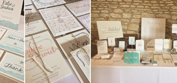Wedding Stationery examples at Caswell House
