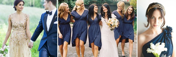 Blue and Gold wedding inspiration