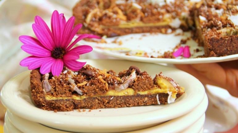 Guilt & Gluten Free Chocolate Banana Pie