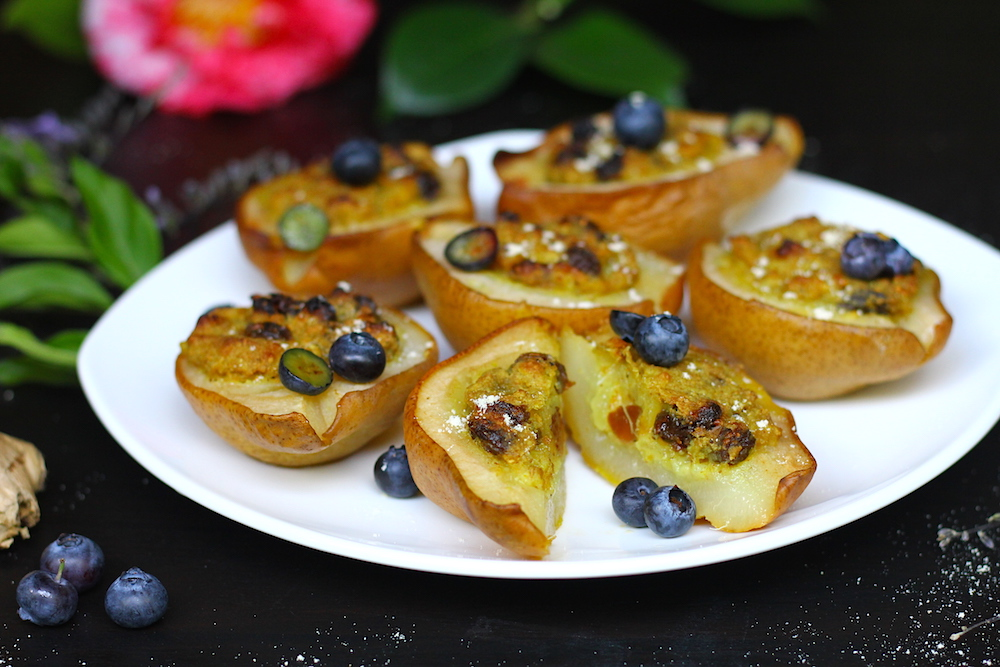 Oven Baked Ginger Pears