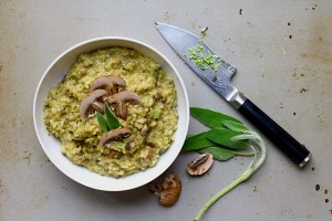 Mushroom Brown Rice Risotto with Moringa