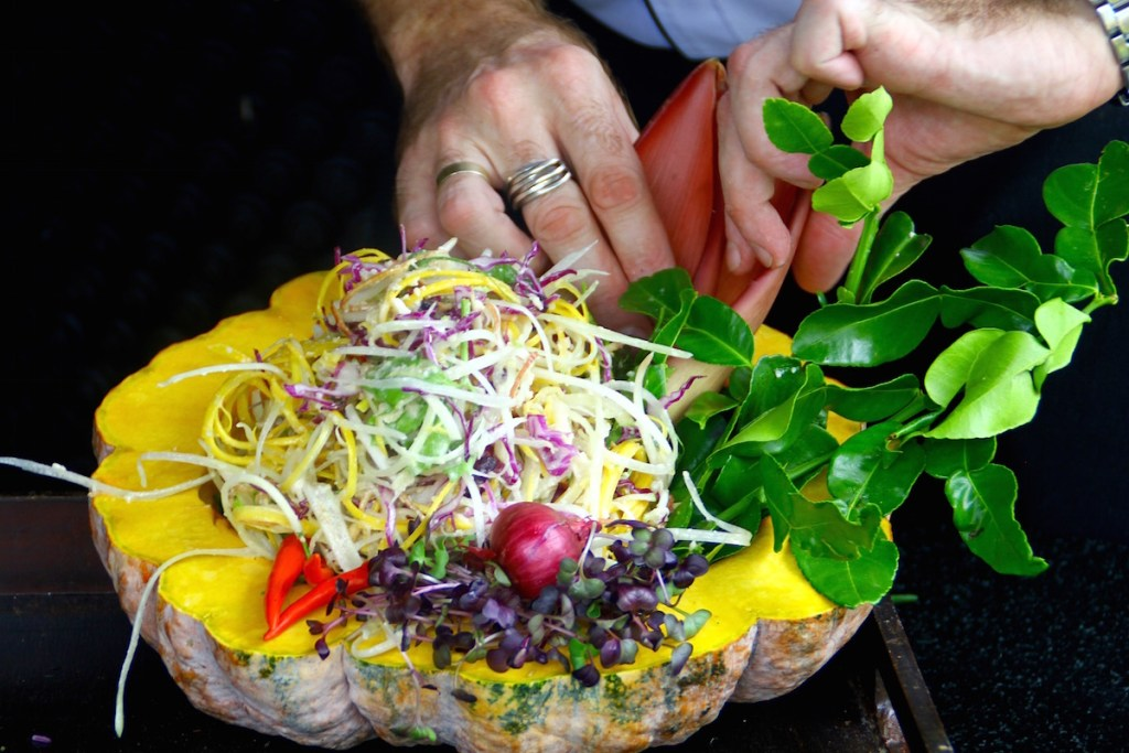 Gourmet Raw Pad Thai Salad from the Chef at Anantara Phuket
