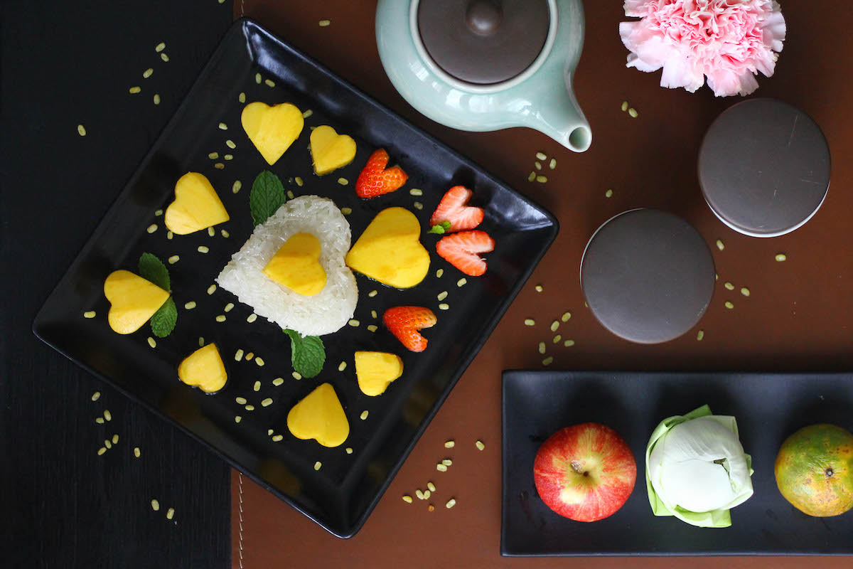 Mango Sticky Rice at Grand Hyatt Erawan. A Gluten Free Luxury Hotel in Bangkok copy