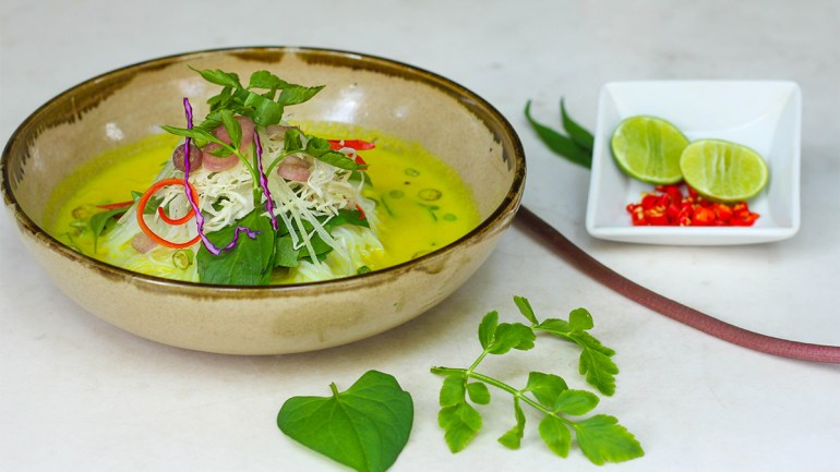 Fish Curry Noodle Soup from the Chef at Park Hyatt Siem Reap (GF, Paleo, AIP)