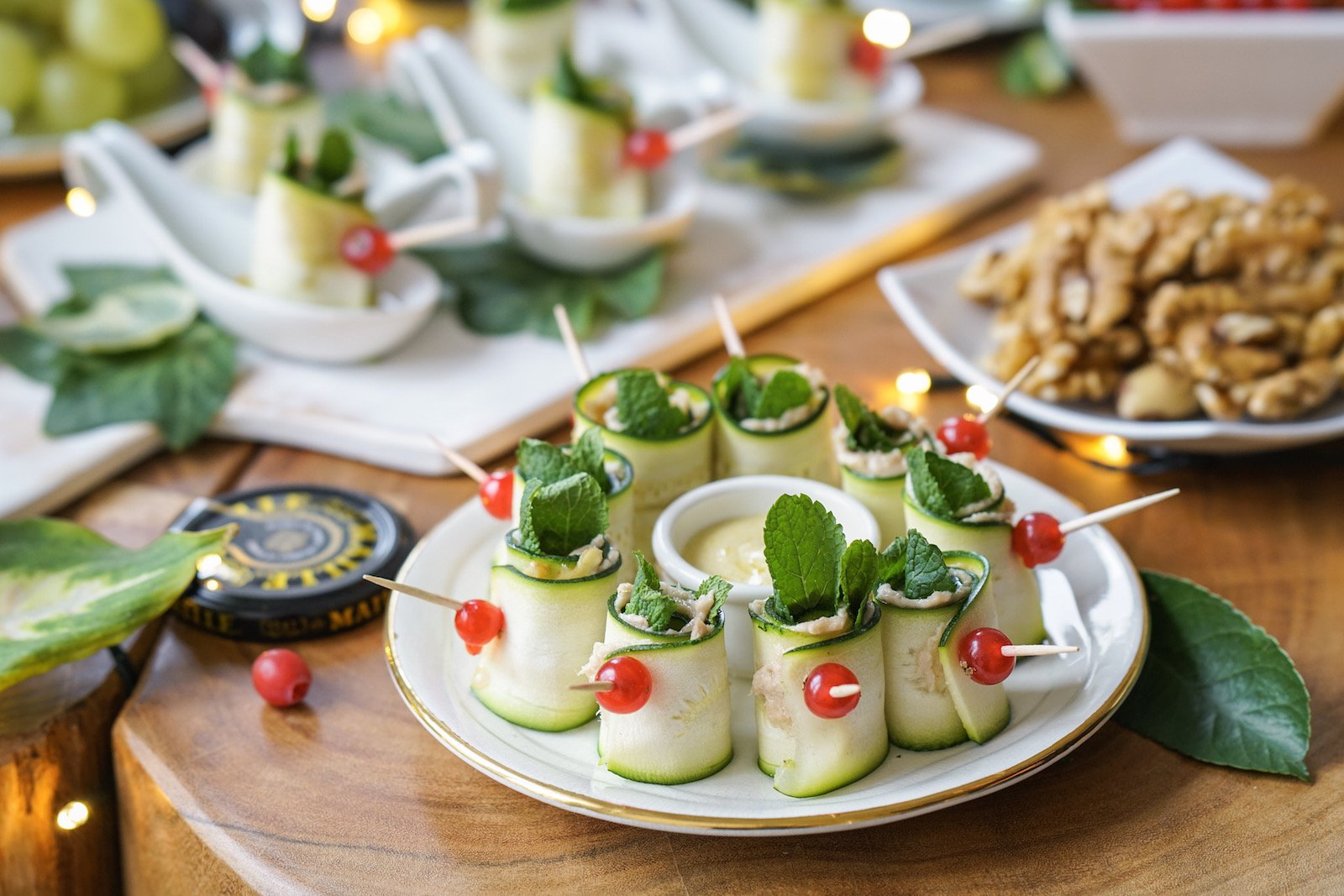 healthy holiday party finger food dairy gluten free little bites of beauty
